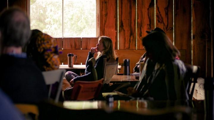 herb talk in barn