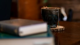 Cup of tea with some books