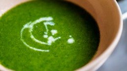 Stinging Nettle Soup in Bowl