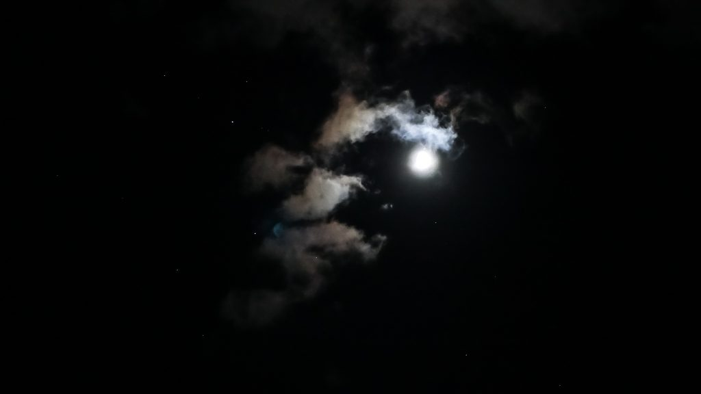 Moon and Clouds by Serena
